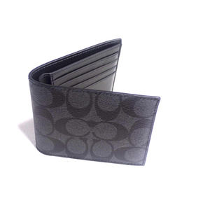 Coach Signature PVC Leather Wallet NWT